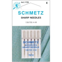 Schmetz Microtex (SHARP) Sewing Machine Needles - 5 pack 70/10