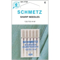 Schmetz Microtex (SHARP) Sewing Machine Needles - 5 pack 60/8