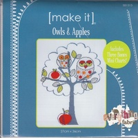 Make It- Owls and Apples Cross Stitch Kit