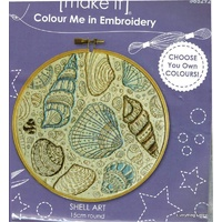 Colour Me In Embroidery - Shell Art
