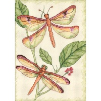 Dragonfly Duo Mini Counted Cross Stitch Kit