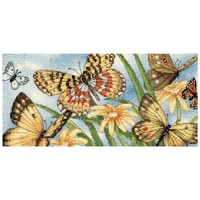 Gold Petite Butterfly Vignette Counted Cross Stitch Kit