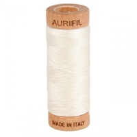Aurifil Mako Cotton Thread Solid 80wt 300yds Chalk - A1080-2026