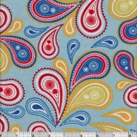 Summer Celebration Paisley Blue