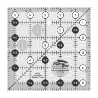 "Creative Grids Quilt Ruler 5.5"" Square"