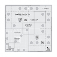 Creative Grids Log Cabin Trim Tool Ruler - Two 6in / 12in Blocks