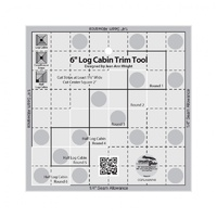 Creative Grids Log Cabin Trim Tool Ruler - 6in Blocks