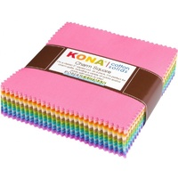 Kona Cotton Solids Pastel Colourstory Charm Squares -5in x 101pc