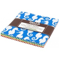 "Reef Charm Squares 5"" - Elizabeth Hartman for Awesome Ocean Pattern"