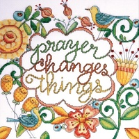 Heartfelt- Prayer Changes Things Counted Cross Stitch Kit