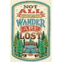 """All that Wander"" Counted Cross Stitch (20cm x 30cm) 14 Thread count"