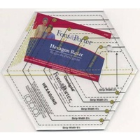 Fons & Porter Hexagon Ruler Sizes 1in to 6in