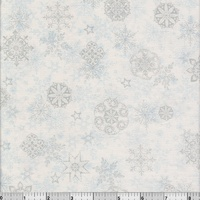 Holiday Cheer - Silver/Blue Snowflakes