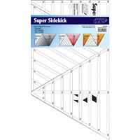 Jaybird Quilts Super Sidekick Ruler - Cuts 3 Shapes in 8 Sizes