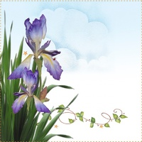 Jody Houghton - Quilt Label Iris 2 per pack