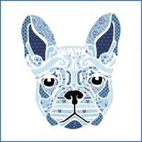 Fleur the Frenchie Laser Cut Applique piece Design