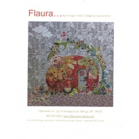 Flaura Vintage Trailer Collage Pattern