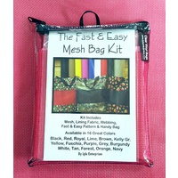 Fast and Easy Fuschia Mesh Bag Kit