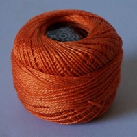 Rose Orange Pearl Cotton #8 10gm/95yds