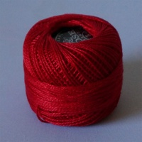 Rose Christmas Red Pearl Cotton #8 10gm/95yd