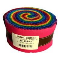 Kona Cotton Solids Jelly Roll Classic Palette 41pcs
