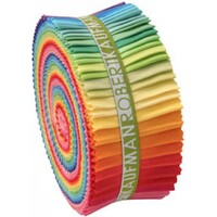 Kona Cotton Solids Jelly Roll Bright Palette 41pcs