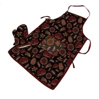 """Red Dust""  Apron and Oven Mit  (Aboriginal Like) design - Pefect Gift idea"
