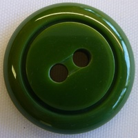 Plastic Green Round Button