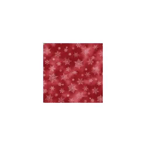 Holiday Elegance - Red Snowflakes