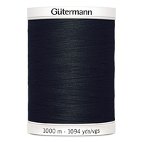 Gutermann Thread Poly Sew 1094 Yard (1000m) Black