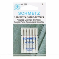 Schmetz Sewing Machine Needles - Sharp/Microtex 12/80   5 Pack