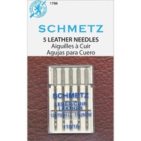 Schmetz Leather Needle 5 ct, Size 110/18