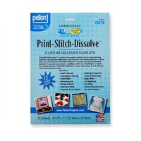 Print-Stitch-Dissolve White 12- 8-1/2in x 11in Sheets