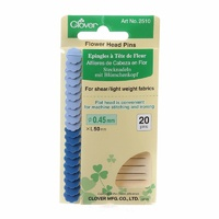 Clover Flower Head Fine Pin Size 32 - 2 inch 20 count-2 colours