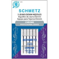 Schmetz Sewing Machine Needles -Chrome Jean and Denim 100/16 Schmetz Needle 5 ct