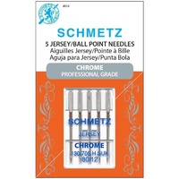 Schmetz Sewing Machine Needles - Chrome Ball Point Jersey 80/12 Needle 5 ct