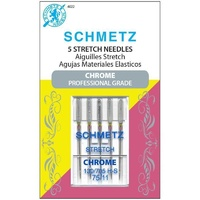 Schmetz Chrome Stretch Needle 5 ct, Size 75/11