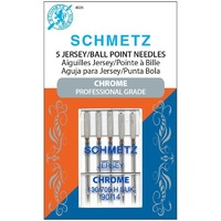 Schmetz Sewing Machine Needles - Chrome Jersey 90/14 Needle 5 ct
