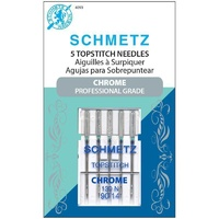 Schmetz Chrome Topstitch  Needle 5 ct, Size 90/14