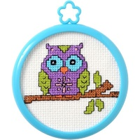My 1st Stitch Owl On A Limb Mini Counted Cross Stitch Kit