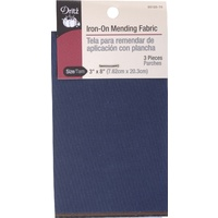 Iron on Mending Fabric Assorted Dark 3ct 3in x 8in