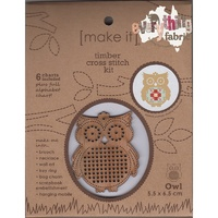 Timber Cross Stitch Kit - Owl