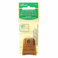 Clover Leather Coin Thimble Medium (single sided)