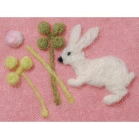 Clover Needle Felting Applique Mold - Clover and Rabbit Design