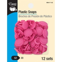 Snaps-Plastic Hot Pink Flowers