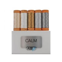 Aurifil Calm Thread Collection 80wt 5 Small Spools