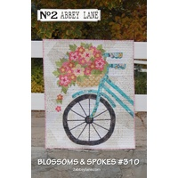 Blossoms and Spokes Wall Hanging Quilt Pattern