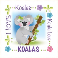 Jody Houghton - KOALA  Fabric Art Panel 6in sq