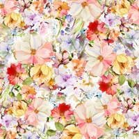 Arabesque Multi Watercolour Floral Backing-108in Wide