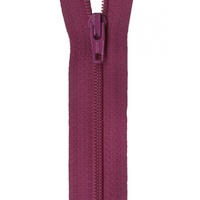"Zipper - 14"" YKK  - Raisin"